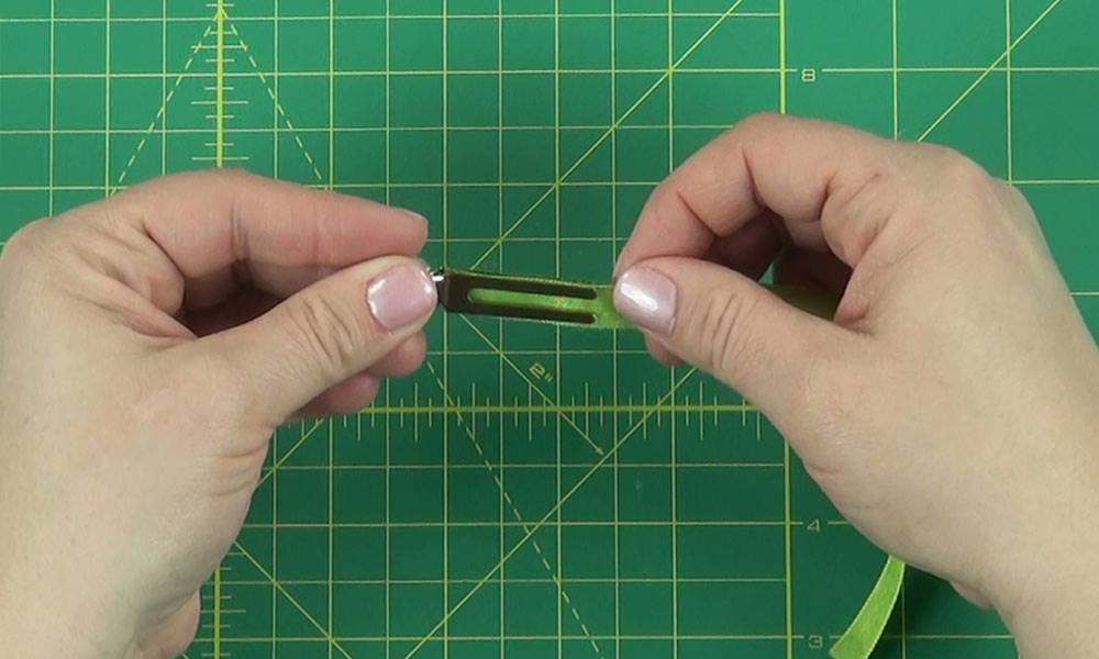 Woman making a Dragonfly Hair Clip