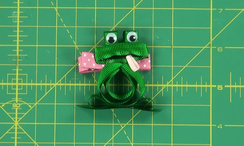 Completed Frog Hair Clip