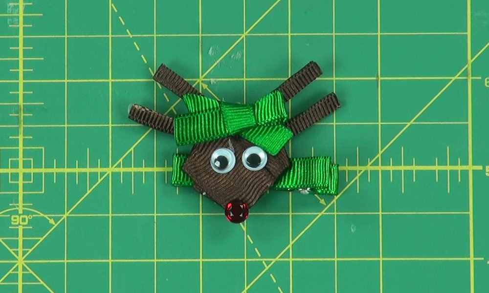 Completed Rudolph Hair Clip