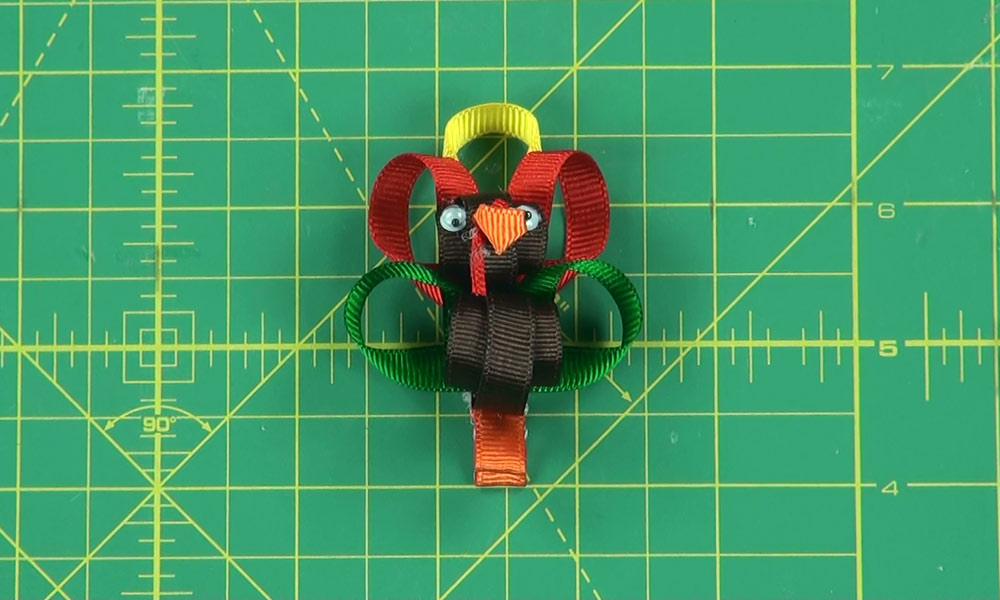 Completed Turkey Hair Clip