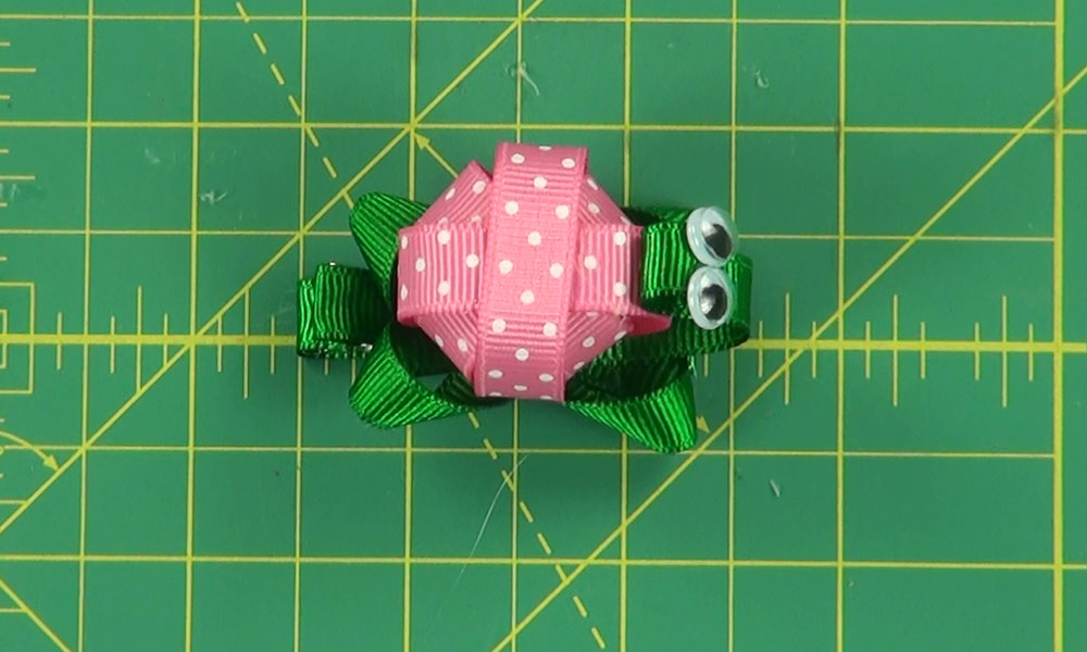 Completed Turtle Hair Clip